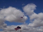 Skydiver with American flag.JPG